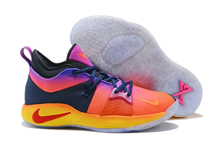 2018 Cheap Nike Zoom PG 2 Pink Yellow Blue Purple