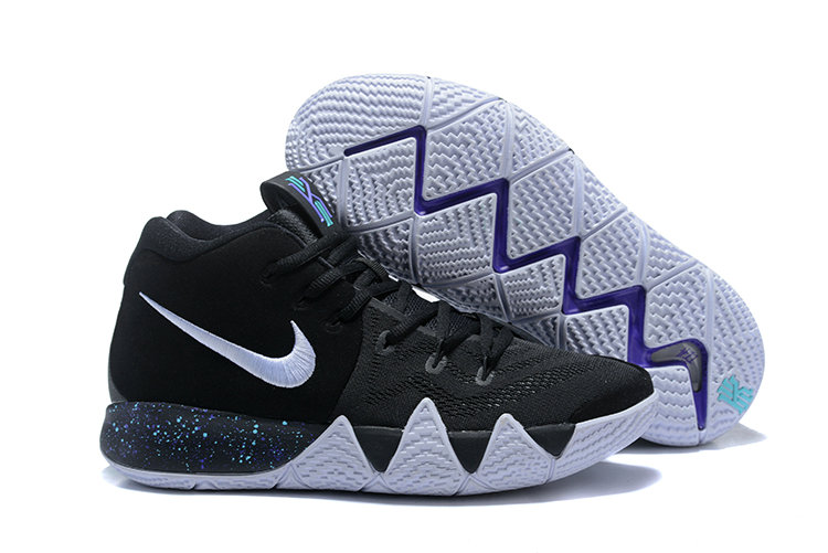 2018 Nike Kyrie Shoes x Cheap Kids Kyrie 4 Black White-Anthracite-Light Racer Blue 943806-002
