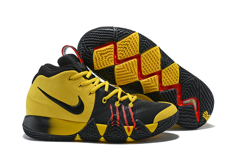 2018 Nike Kyrie Shoes x Cheap Nike Kyrie 4 Bruce Lee Yellow Black Red