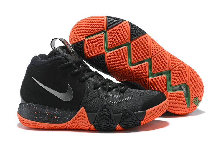 2018 Nike Kyrie Shoes x Cheap Nike Kyrie 4 Halloween Black Metallic Silver