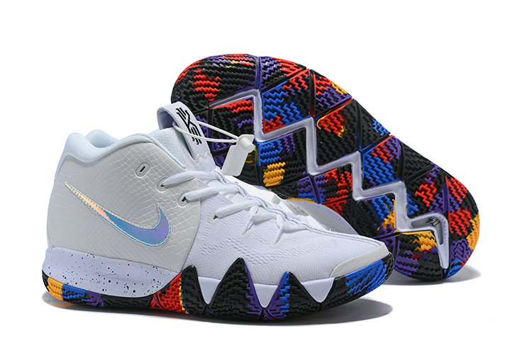 2018 Nike Kyrie Shoes x Cheap Nike Kyrie 4 March Madness White Multi-Color