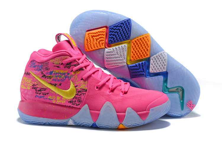 2018 Nike Kyrie Shoes x Cheap Nike Kyrie 4 What The Pink Teal Christmas