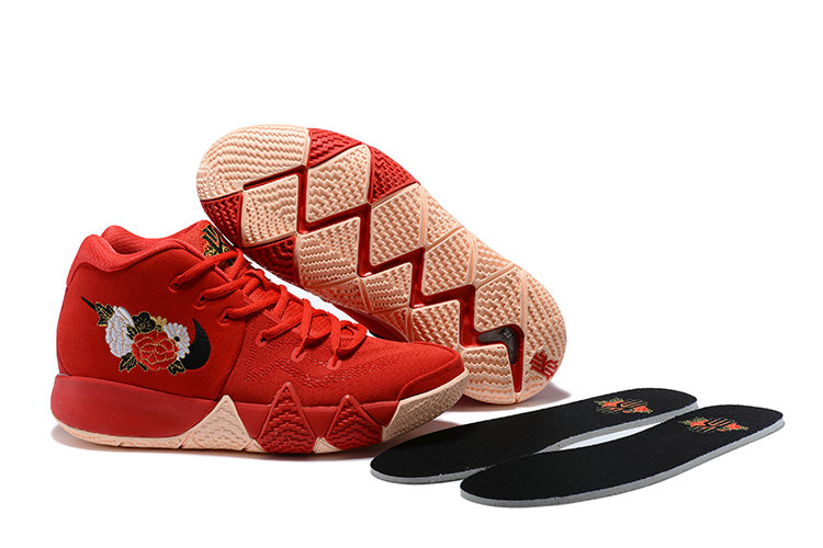 2018 Nike Kyrie Shoes x Cheap Womens Kyrie 4 CNY University Red Black-Team Red 943807-600
