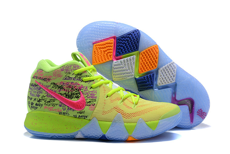 2018 Nike Kyrie Shoes x Cheap Womens Kyrie 4 Confetti Multi-Color-Multi-Color 943806-900