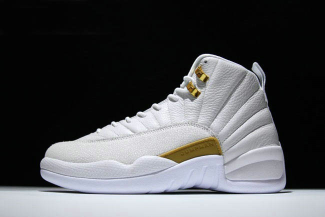Cheap 2018 New Air Jordan 12 OVO White Metallic Gold-White For Sale