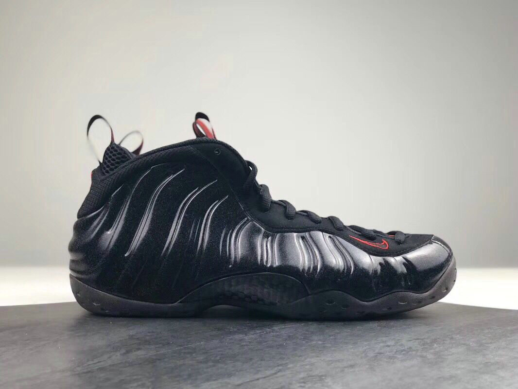2018 Nike Air Foamposite One Black Red Cheap Sale