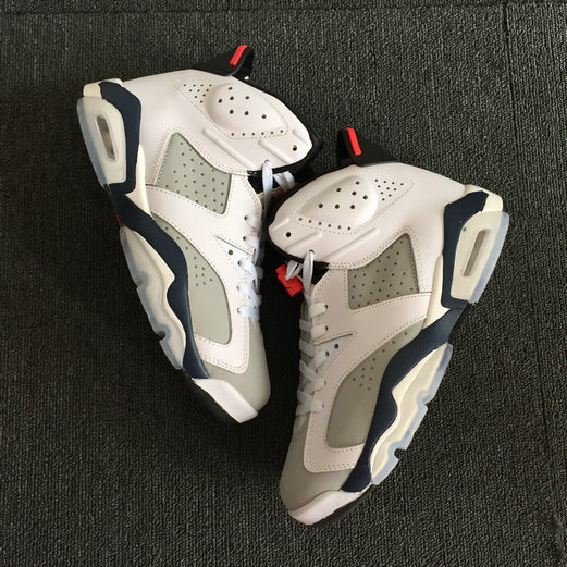 2018 Nike Air Jordan 6 Tinker Navy bLue White Cheap Sale