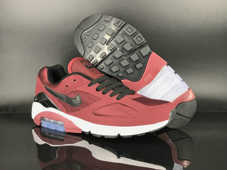 2018 Nike Air Max 180 Red Black White Mens Cheap Sale