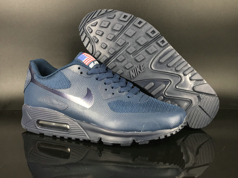 timeless design d380f 09d80 2018 Nike Air Max 90 Hyperfuse SneakerBoot Silver Blue Cheap ...