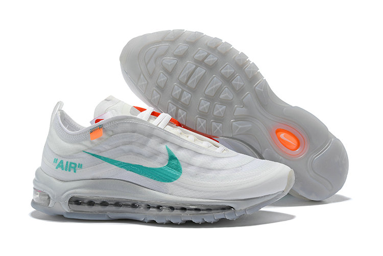 61ef8b2e171 2018 Nike Air Max 97 SneakerBoots OFF-WHITE Green White Cheap Sale ...