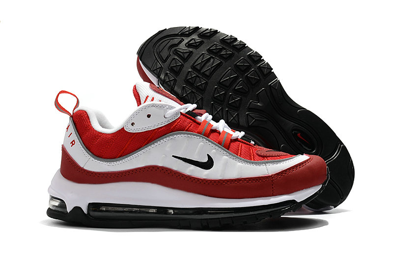 2018 Nike Air Max 98 Colorways Red White Black Cheap Sale