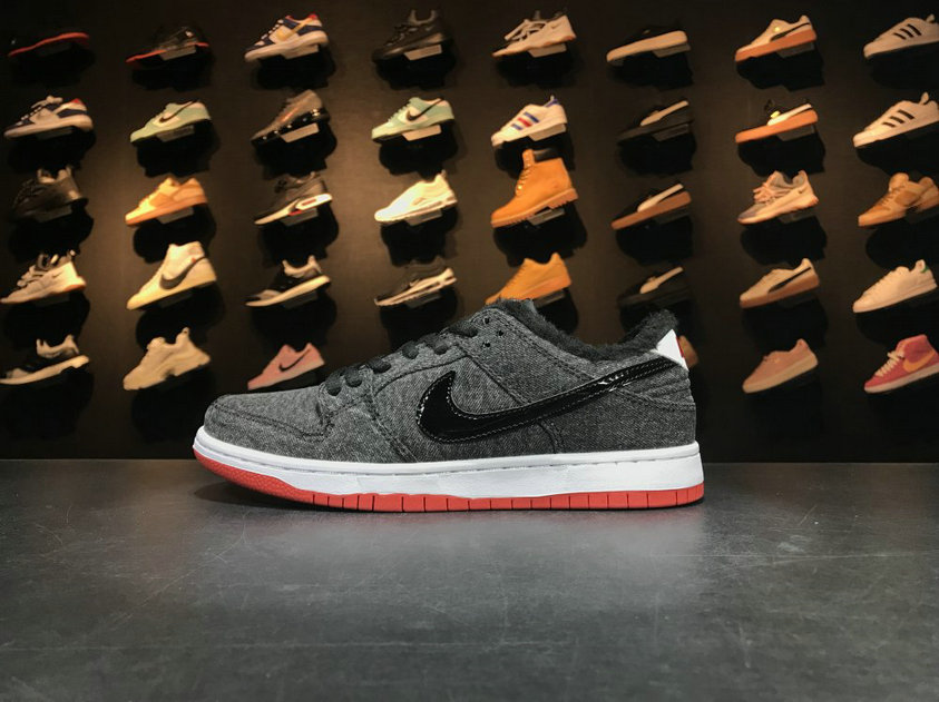 2018 Nike SB Dunk x Cheap Nike Dunk Low Premium SB Larry Perkins Black White Red Noir Blanc Rouge