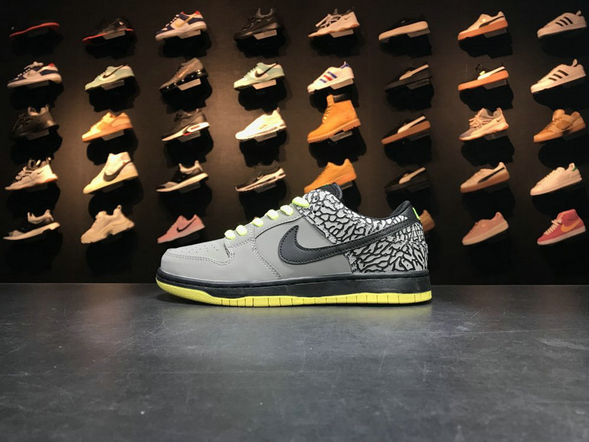 2018 Nike SB Dunk x Cheap Nike Dunk Low Premium SB TRD QS Grey Black Green Gris Noir Vert