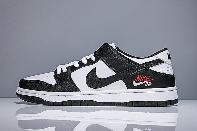 2018 Nike SB Dunk x Cheap Womens Nike Dunk Low Elite SB Black White