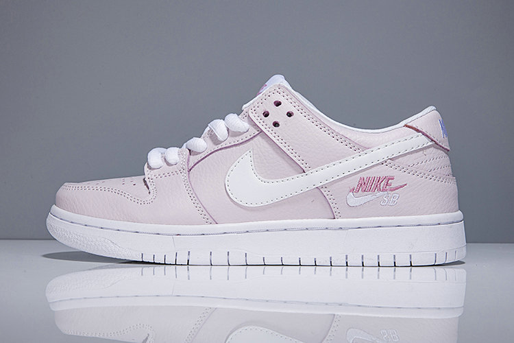 2018 Nike SB Dunk x Cheap Womens Nike Dunk Low Elite SB Pink White