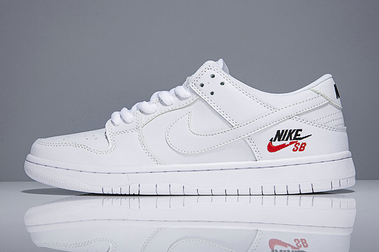 2018 Nike SB Dunk x Cheap Womens Nike Dunk Low Elite SB Triple White
