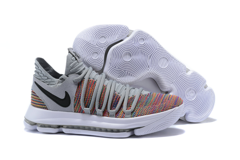 2018 Nike Kevin Durant x Cheap Nike KD 10 Multi-Color Black-Cool Grey-White