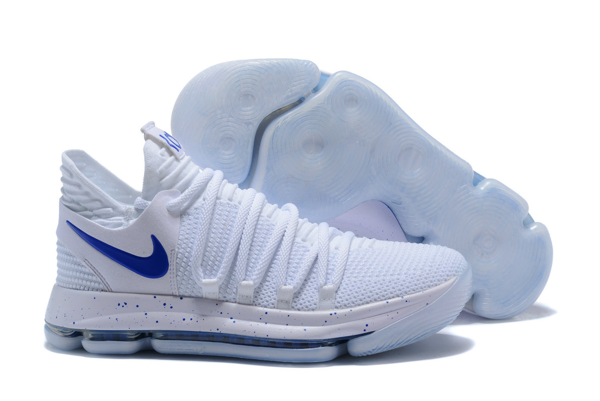 2018 Nike Kevin Durant x Cheap Nike KD 10 Numbers White Game Royal-University Gold