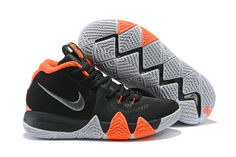 low priced e630b 0cf19 2018 Nike Kyrie Irvings 4 Black Orange White Cheap Sale