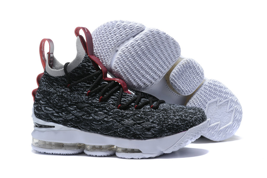 2018 Nike Lebron Shoes x Cheap Nike LeBron 15 Pride of Ohio Black Taupe Grey-Team Red