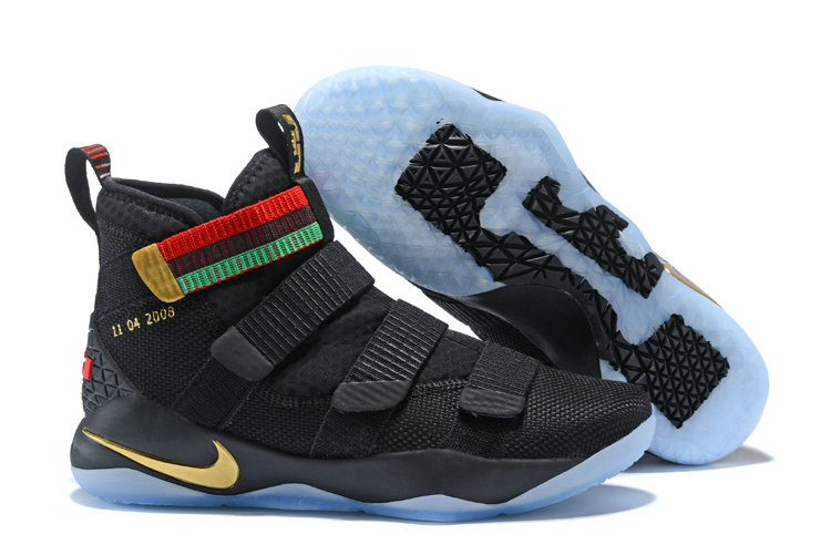 2018 Nike Lebron Soldier 11 XI Black Gold Red Green Cheap Sale