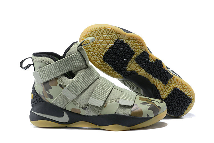 2018 Nike Lebron Soldier 11 XI Gold Army Green Cheap Sale