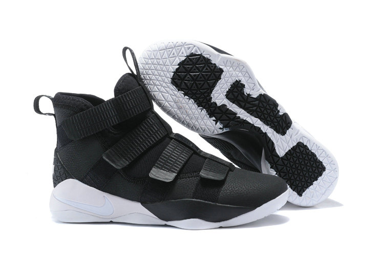 2018 Nike Lebron Soldier 11 XI Triple Black White Cheap Sale