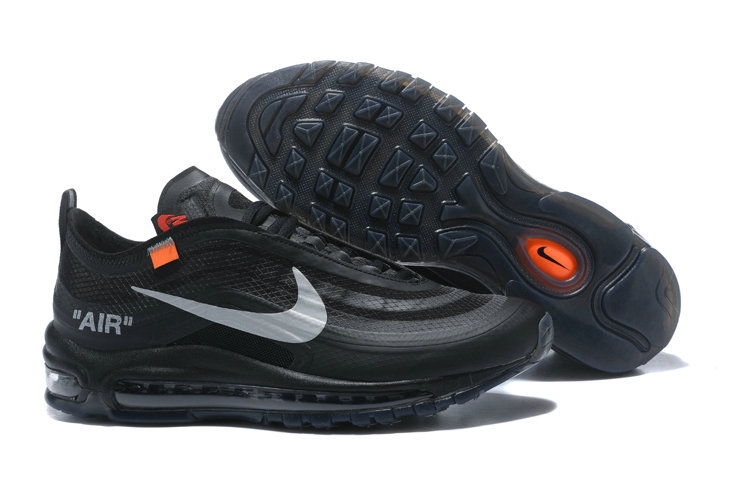 2018 Nike OFF-WHITE Air Max 97 SneakerBoots Black Cheap Sale