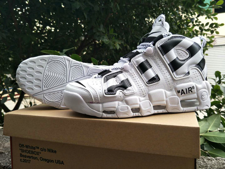 2018 Nike Air Uptempo x Cheap Nike Air More Uptempo x OFF WHITE Black White