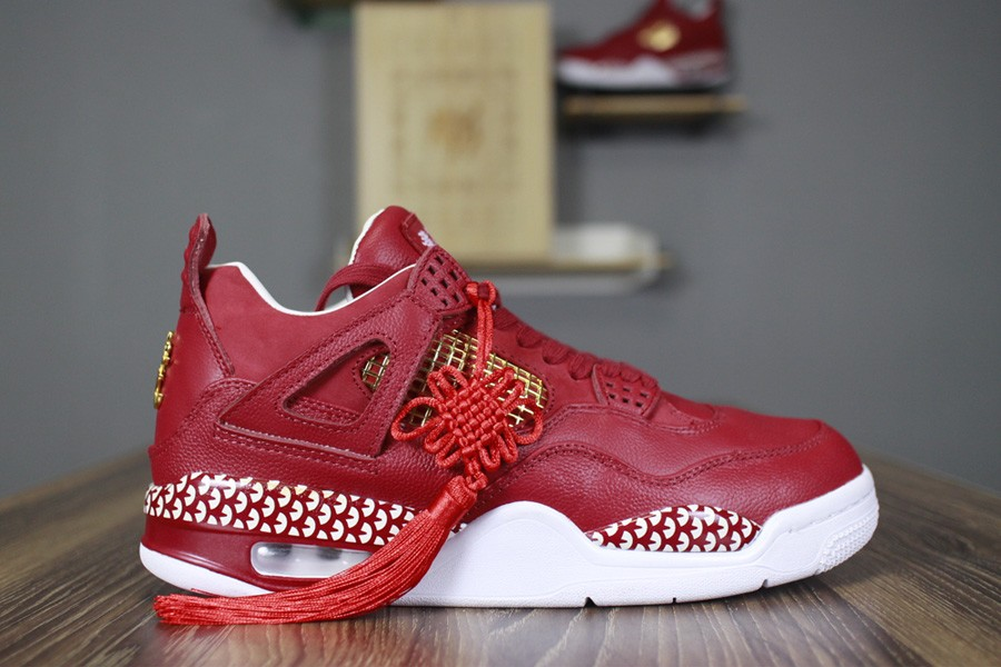 123618ed6fdf 2018 Remade x 400ml Red Air Jordan 4 CNY Chinese New Year Custom For Sale