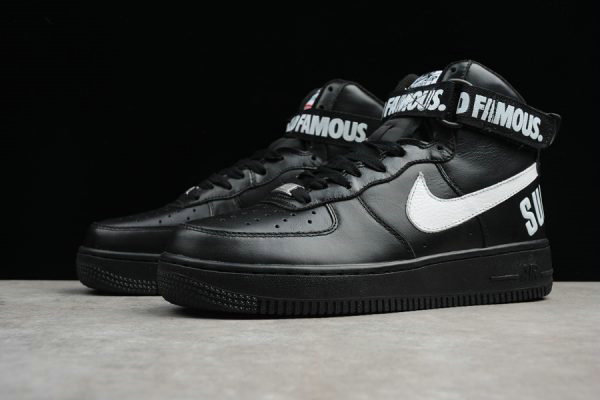 Cheap 2018 Supreme x Nike Air Force 1 High Black For Sale