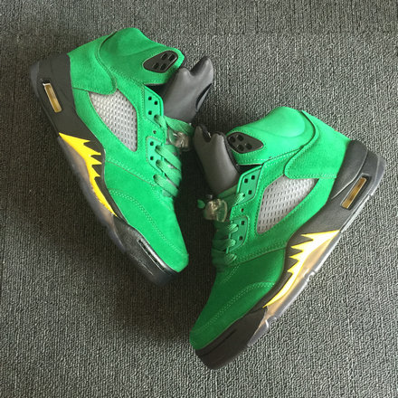 2018 Cheapest Sale Nike Air Jordans 5 (V) Retro Apple Green For Mens