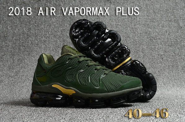 2018 Cheapest Sale Nike Air VaporMax Plus Mens Army Green Gold