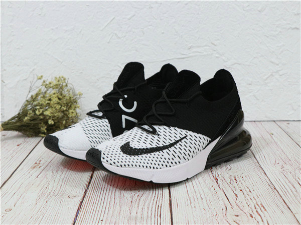 2018 Cheapest Sale Nike Air Maxs 270 Flyknit Mens White Black