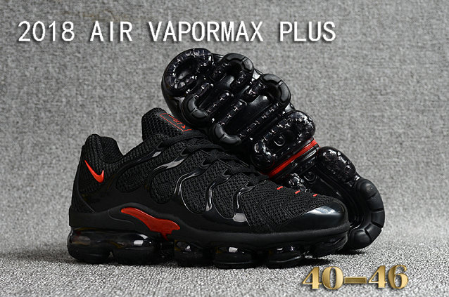 2018 Cheapest Sale Nike Air VaporMax Plus Mens Black Red