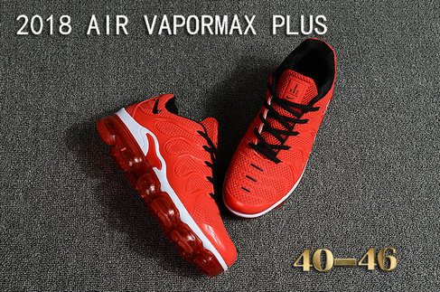2018 Cheapest Sale Nike Air VaporMax Plus Mens China Red White Black