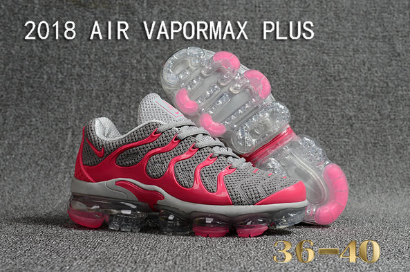 2018 Cheapest Sale Nike Air VaporMax Plus Womens Pink Grey