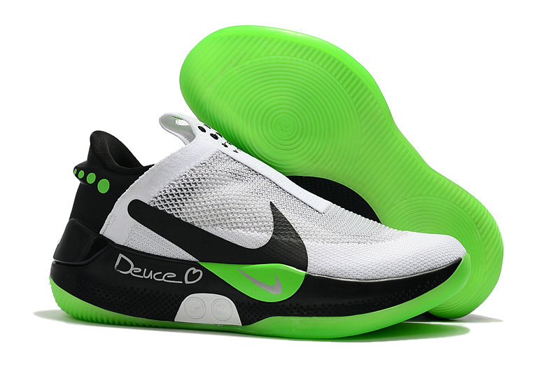 2019 Cheap Nike Adapt BB White Black Apple Green
