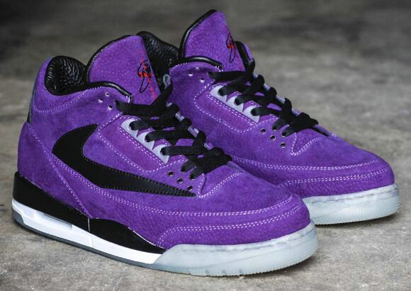 2019 Cheap Nike Air Jordan 3 High OG TS SP Purple Black