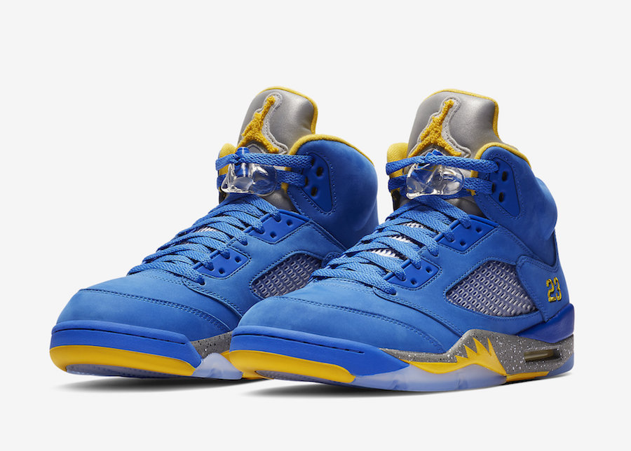2019 Cheap Nike Air Jordan 5 JSP Laney Varsity Royal Light Charcoal-Varsity Maize CD2720-400