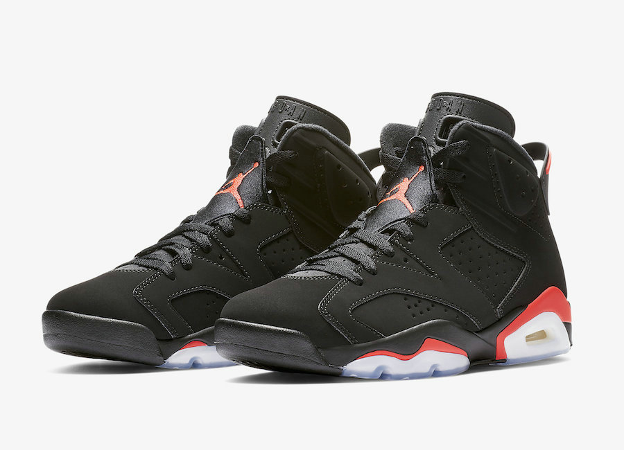 2019 Cheap Nike Air Jordan 6 384664-060 Black Infrared