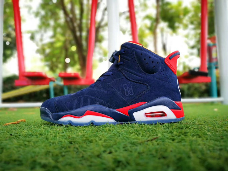 2019 Cheap Nike Air Jordan 6 Doernbecher Navy White-Varsity Red-Metallic Gold CI6293-416