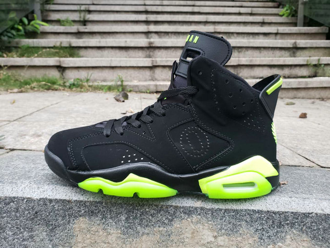 2019 Cheap Nike Air Jordan 6 Fluorescent Green Black
