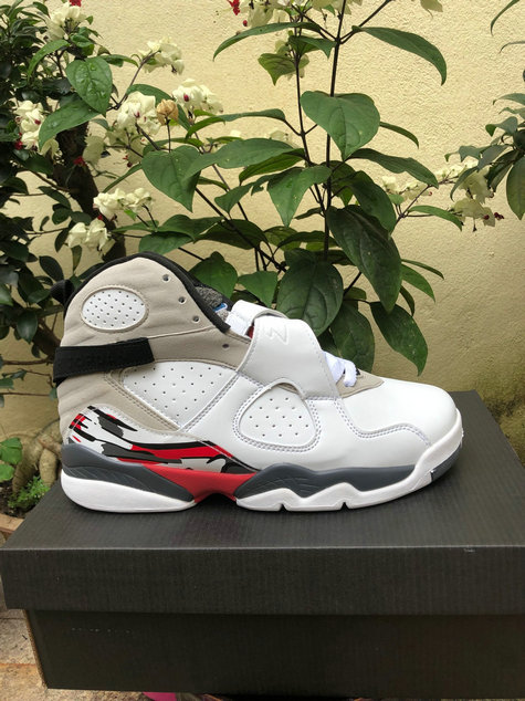 2019 Cheap Nike Air Jordan 8 White Gym Red-Black-Wolf Grey 305381-104