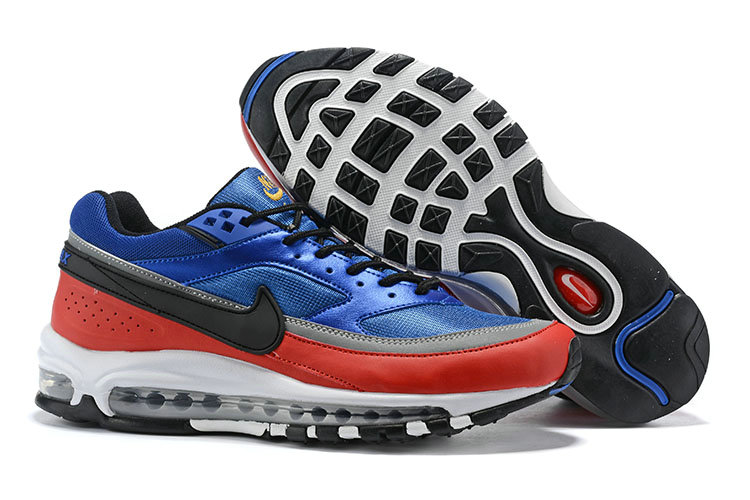 2019 Cheap Nike Air Max 97 Just DO IT Blue Black Red White Grey