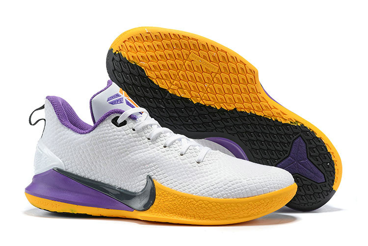 2019 Cheap Nike Kobe Mamba Focus White Black Yellow Purple