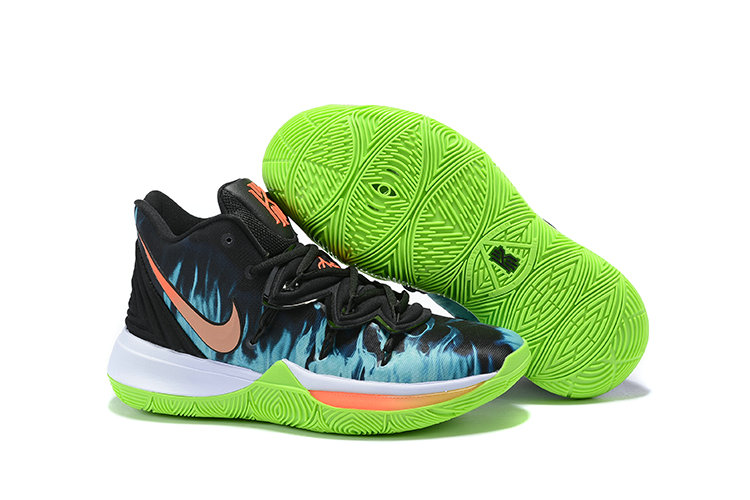 2019 Cheap Nike Kyrie Irving 5 V Fire Orange Black Blue Green