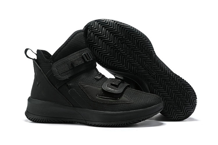 finest selection e2062 02e3c 2019 Cheap Nike LeBron Soldier 13 Triple Black - Cheap Nike ...