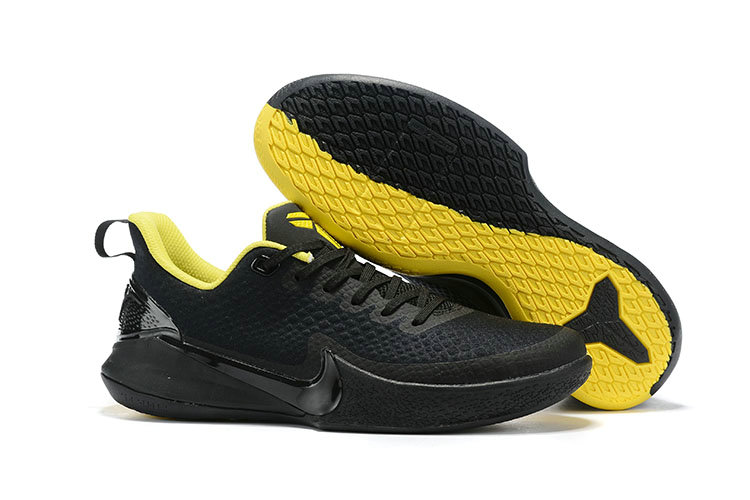 2019 Cheap Nike Mamba Focus Basketball Shoe Black Yellow
