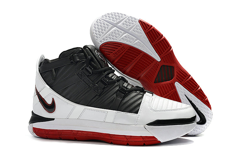 2019 Cheap Nike Zoom Lebron 3 Qs Home White-Black-Varsity Red A02434-101
